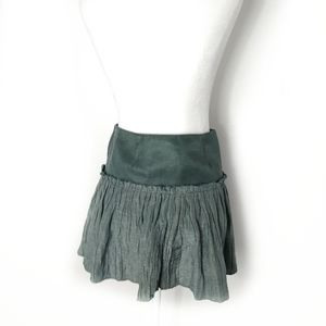 Geren Ford Gray Blue Pleated Shimmer Mini Skirt